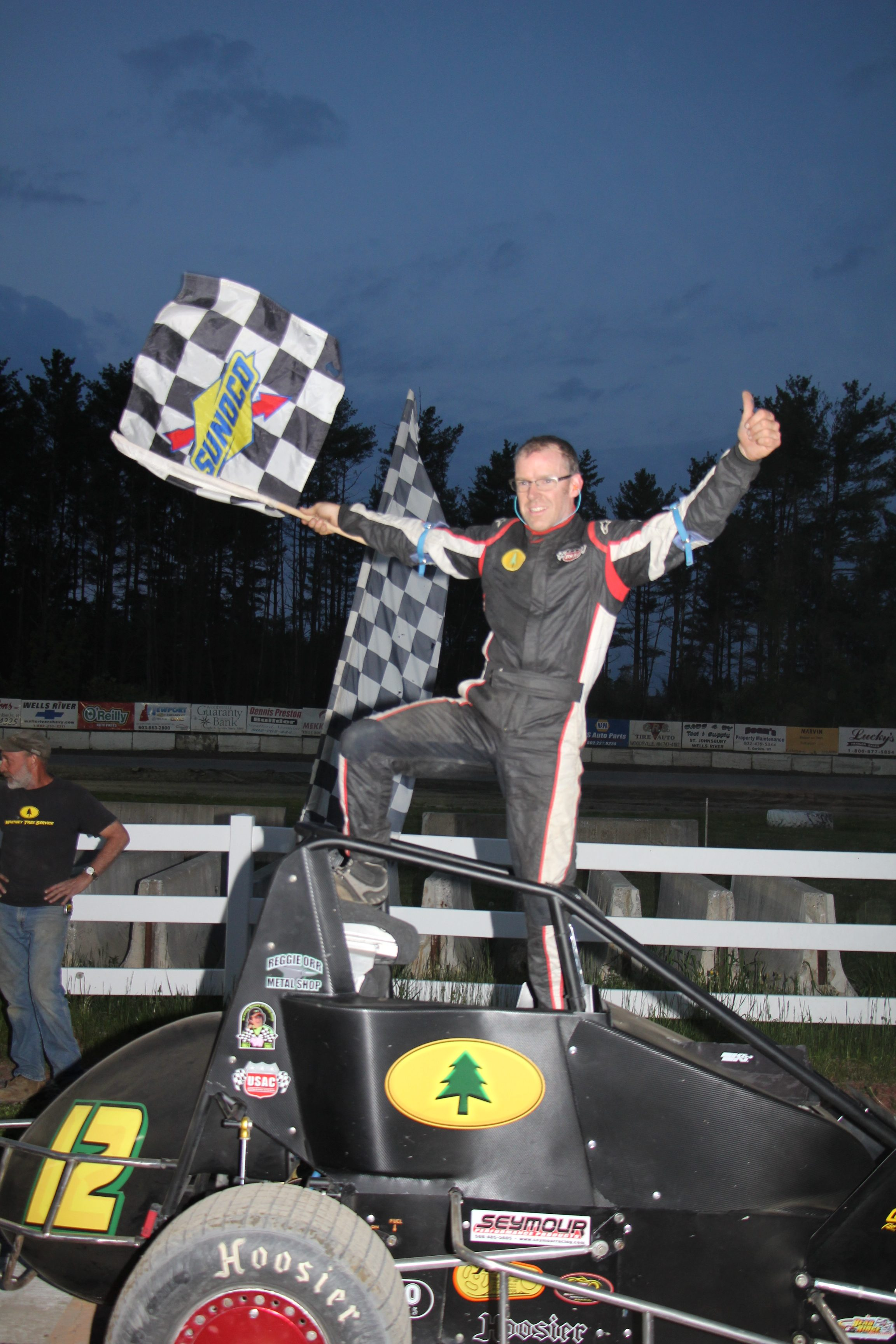 It's All Adam Whitney for The Win in USAC Dirt Midget Association Race